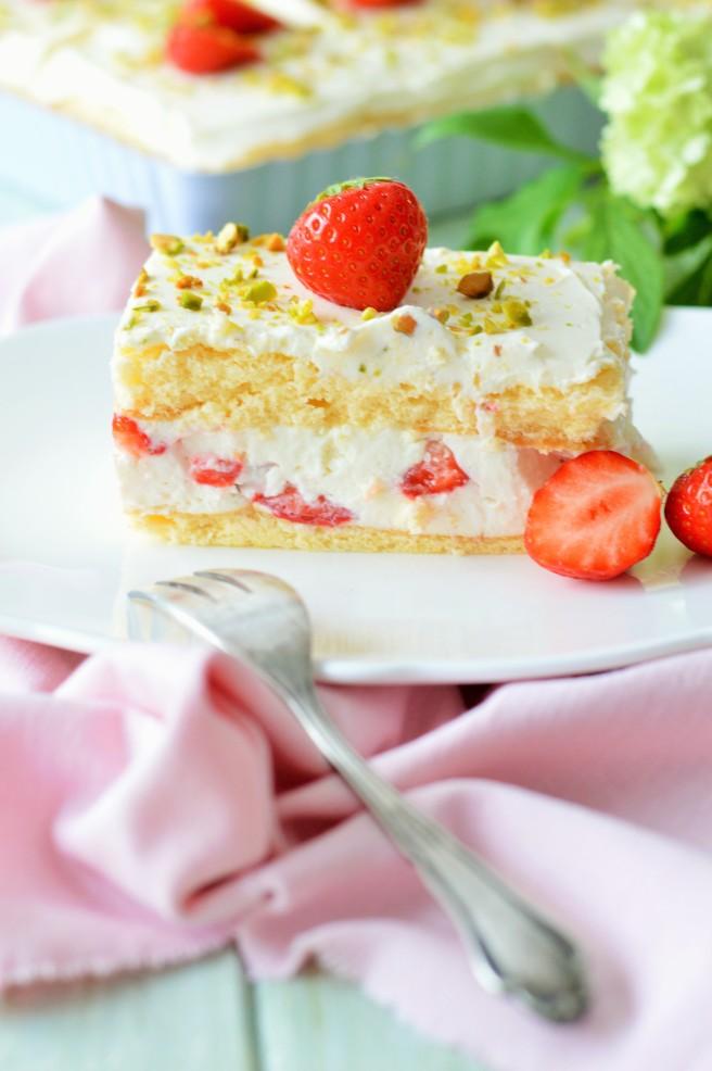 Erdbeere-Joghurt-Schnitte