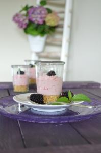 Himbeere-Cheesecake im Glas