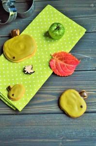 Apfelkekse aus Mürbeteig mit Vanille