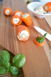 Antipast - Sweet Paprike mit cremigen Frischkäse