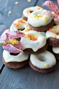 Schoko-Bananen-Donuts