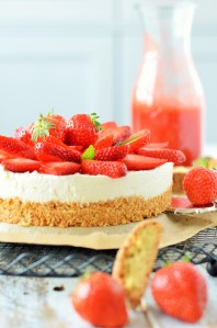 no bake Erdbeere-Cheesecake