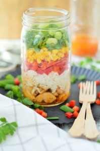 Hähnchen Reissalat