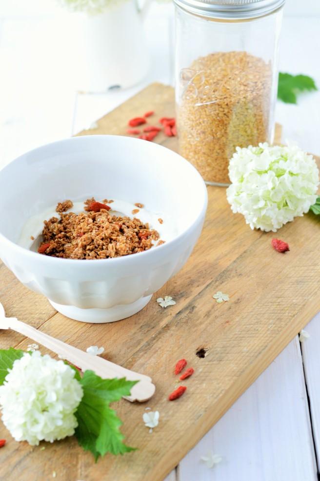 Buchweizengranola mit Cashew