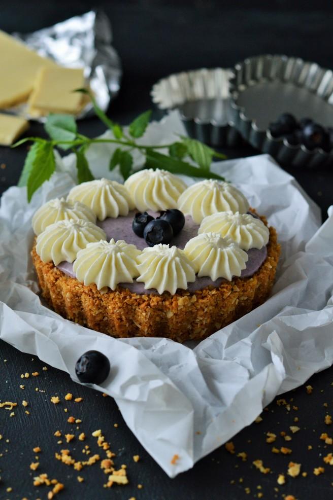 Blaubeere-Cheesecake Tarteletts