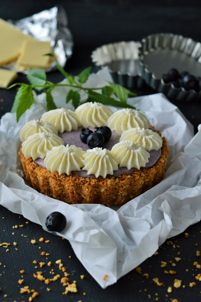 Blaubeere-Cheesecake Tarteletts
