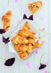 Frühstückshörnchen mit Cheesecakefüllung