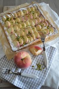 Pfirsich-Marzipan-Tarte