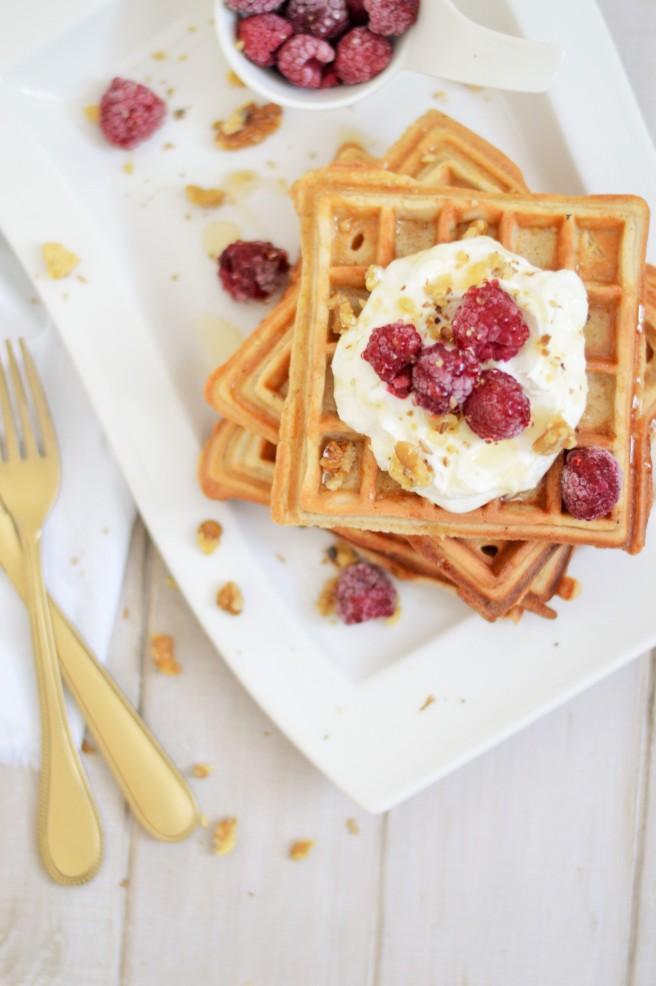 Frühstückswaffeln mit Haferflocken